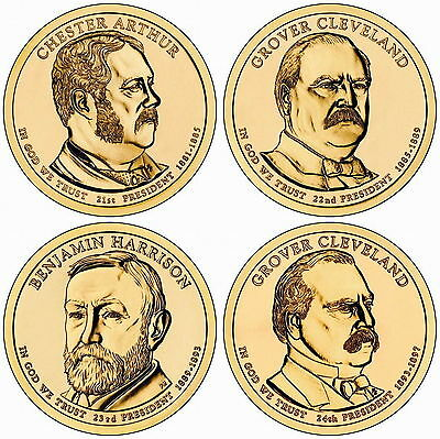2012 (21st to 24th) US President - Four $1's Uncirculated Coin