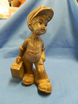 Figurine Boy with Suitcase in Hand Collectable Statue Plastic?