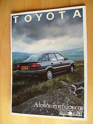 1987 TOYOTA 50years 'A Lesson In Refinement'  Dealer In House Magazine -freepost