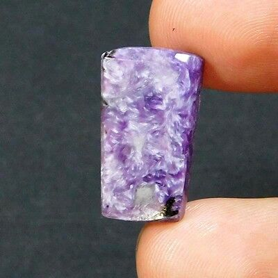 8Cts 100% NATURAL A+ ROYAL BLUE CHAROITE RUSSIAN Fancy 20X11 CABOCHON GEMSTONE