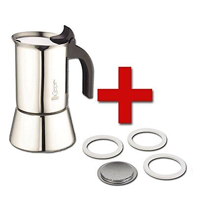 Bialetti Venus Stovetop Percolator 6-Cup Stainless Steel and Replacement filt...