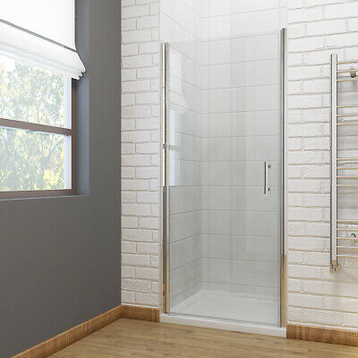 Frameless Shower Door Pivot Hinge Shower Enclosure Cubicle 700/760/800/900mm