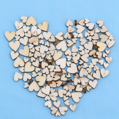 100pcs Wood Love Heart Painting Craft Embellishment Cardmaking Scrapbooking