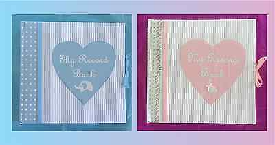 Baby Boy Girl - Memory Keepsake Record Album Book Baby Shower Gift - Boys Girls