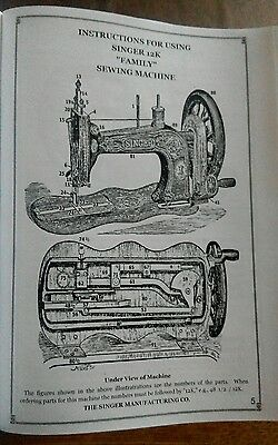 SINGER Sewing Machine Manual Good quality copies from £6.99 most models availabe