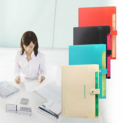 8 Layer A4 Paper File Folder Cover Holder Document Storage Bag Office Supplies #