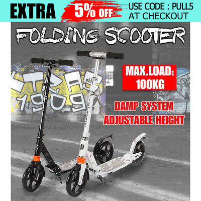 2017 Folding Commuter Big Wheel Suspension Scooter Skate Adult Child Kid Gift AU