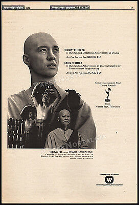 KUNG FU__Original 1973 Trade AD / Emmy Award TV promo / poster__DAVID CARRADINE