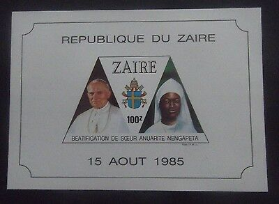 Zaire-1985-Beatification of Sister Anuarite Nengapeta-MNH Imperf Minisheet