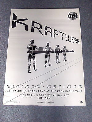 Kraftwerk -Minimum Maximum-  Mega Rare Official Record Co. Promo Poster