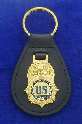 DEA Special Agent Leather Key Ring #US1