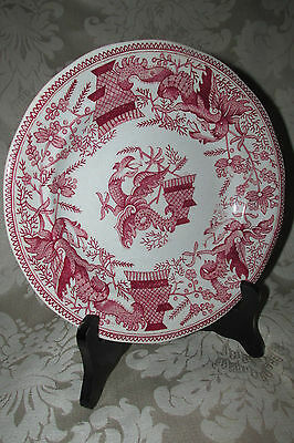 Antique PLATE Red Dragon Holland Maastricht Petrus Regout & Co. Hairline 21.5CmW