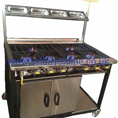 6 Burner Commercial Cooker With 1 Oven Restaurants And Takeaways New Design