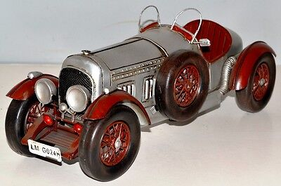 Bentley um 1927 Oldtimer Blechauto Blechmodell Tin Model Vintage Car 33 cm 37526
