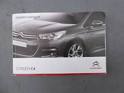 Citroen C4 Owners Manual Handbook 2010-2015 Genuine Print 2011