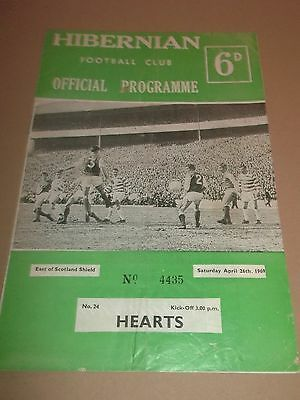 Hibernian V Hearts Football Programme 1969 East Of Scotland Shield