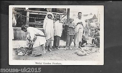 MALAYA REAL PHOTOGRAPHIC POSTCARD GARDEN PRODUCE FEDERAL RUBBER Co PUBLISHERS