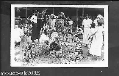 MALAYA REAL PHOTOGRAPHIC POSTCARD MARKET PLACE FEDERAL RUBBER Co PUBLISHERS.
