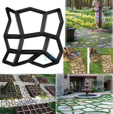 9 grids Brick Driveway Paving Patio Concrete Slabs Path  Garden Walk Maker Mould