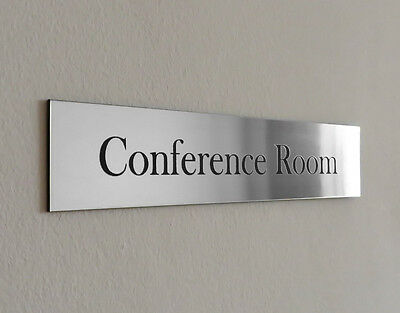 """10""""x 2"""" Custom Engraved Office Sign, Personalised Name Plaque, Wall, Door, Logo"""
