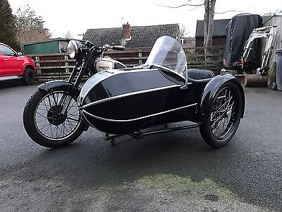 Panther motor cycle and sidecar