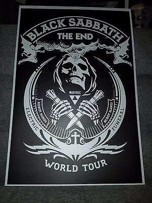 Black Sabbath Poster The End Tour concert gig tour poster Ozzy Black Sabbath
