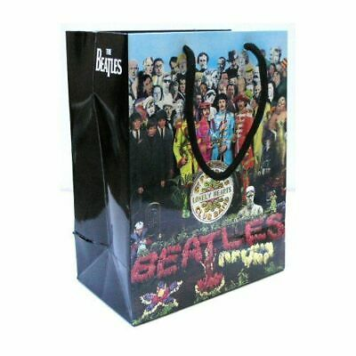 NEW 22cm SMALL BEATLES SGT PEPPER GIFT BAG PRESENT WRAPPING PAPER LENNON LP UK