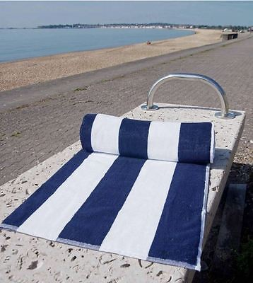 Pool Towel/Beach Towel Blue And White Chlorine Resistant Ideal For Holiday