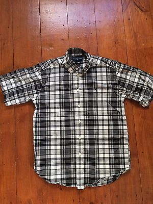 Black And White Ralph Lauren Boys Shirt Size 10-12