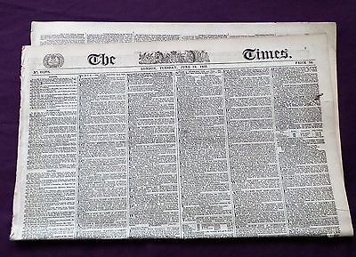Original Newspaper Tuesday June 19, 1855 THE TIMES LONDON