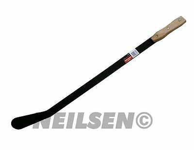Large Grass Weed Slasher Clearer Scythe Garden Clearance Wooden Grip Hand Tool
