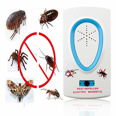 EU US Ultrasonic Electronic Repellent Pest Mouse Bug Mosquito Repeller BY
