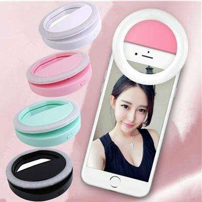 Hot Portable Mobile Phone Selfie Light Ring Clip-On Luminous Lamp For Iphone YH