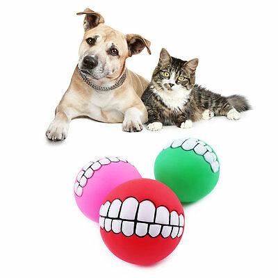 Pet Dog Super Upset Evade Glue Treat Ball Teeth Chew Toy Sound Novelty Playing B