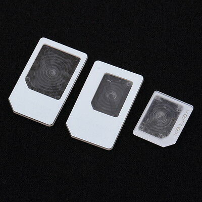 3 Adapters For nano SIM Micro Standard Card Adapter Tray Holder For iPhone BY