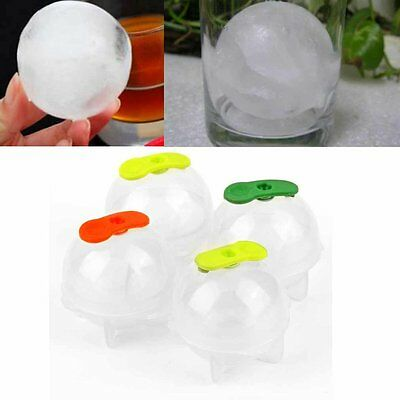 4Pcs Party Bar Plastic Cute Ice Cube Ball Tray Round Maker Sphere Mold Mould BY