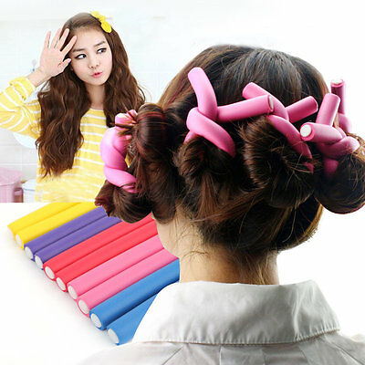 10pcs/set DIY Personal Styling Hair Rollers Magical Rubber Twist Curls Tool BY
