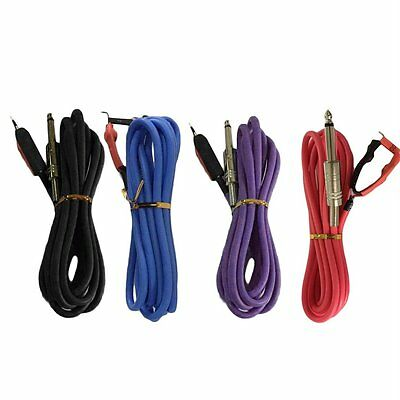 Professional 2.4M Silicone Copper Wire Tattoo Power Supply Clip Cord Cable BY