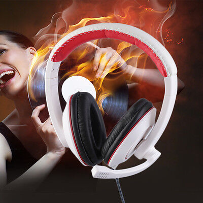 Gaming Headset Surround Hifi Stereo Headband Headphone 3.5mm with Mic for PC BY