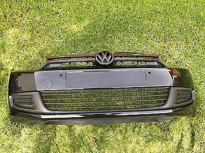 Genuine Golf Mk6 Black Front Bumper With Grill Complete