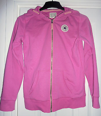 Girls Pink Converse All Star Pink Hooded Top Age 13-15 years