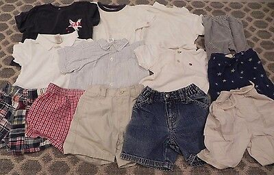 13 Piece Lot Baby Boys 6-12 Months Summer - Shorts Shirts EUC Old Navy Gap