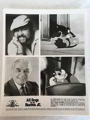 6 -1989 Mgm All Dogs Go To Heaven Promo B/w Movie Photo  Don Bluth Animated Film