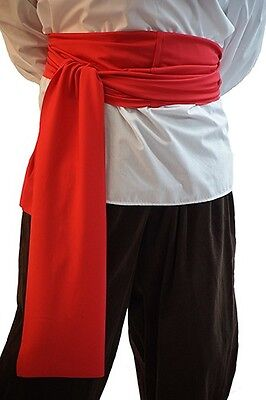 Pirate-Buccaneer-LARP-SCA-Panto-Fancy Dress-Pan PIRATE WAIST SASH All Colours