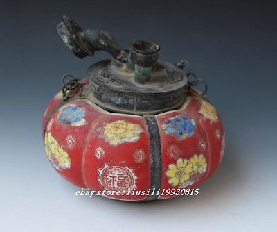 Old Tibet Decorated Collectible Handwork Tibet  Silver Dragon Tobacco Pipe