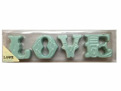 Vintage Home Decor Ceramic Free Standing LOVE Letters Sign - Dmged Box