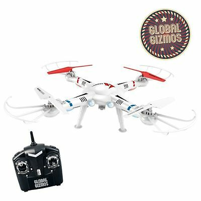 Global Gizmos 2.4 GHz Flying Drone Quad Helicopter with Camera, Outdoor Use