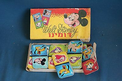 vintage Disney Domino for children Israel 1960's toy game in Hebrew