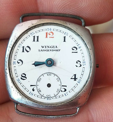 "Rare Old 1920""s Mechanical Wrist Watch Wengia Langendorf  -   For Parts"