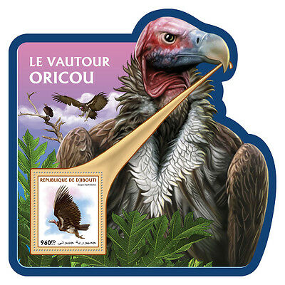 Djibouti 2016 MNH Lappet-Faced Vulture WWF 1v S/S Birds of Prey Stamps